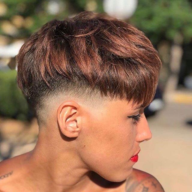 pixie cut braune haare