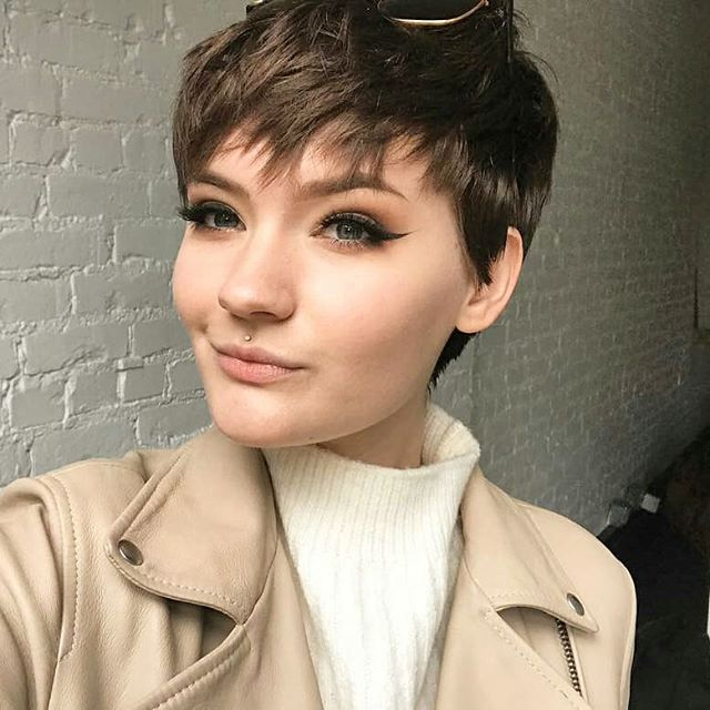 pixie cut braun