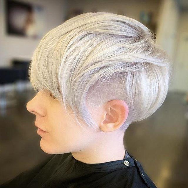 bob frisuren kurz graue haare