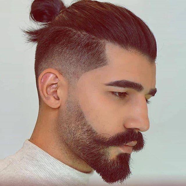 männer frisuren mittellang seiten kurz